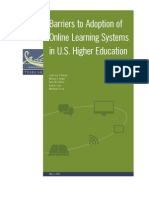 Barriers of Online Learning Systems in US 2012