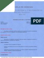 Calculo Numerico- Apuntes de Analisis Numerico