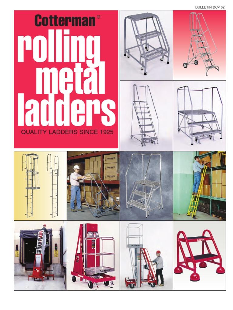 Sensational Cotterman Rolling Metal Ladders Catalog Forklift Ladder Pdpeps Interior Chair Design Pdpepsorg