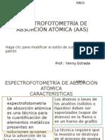 ESPECTROFOTOMETRÍA DE ABSORCIÓN ATÓMICA (AAS)