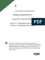 GRE Practice Test 1 Quant 18 Point
