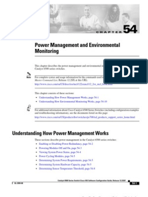 Catalyst 6500 - Power Management and Environmental