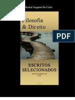 Rafael Augusto de Conti - Filosofia & Direito, Escritos Selecionados (2008)