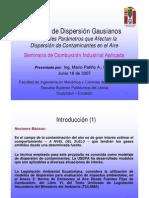 Modelos de Dispersión Gaussiano