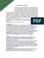 Lista de Ciencias Sociales