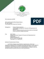 OBAMA TRANSITION TEAM-- Letter 20DEC08--SPANISH
