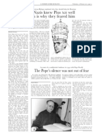 """""""The Nazis knew Pius XII well which is they feared him"""" by Dimitri Cavalli in L'Osservatore Romano (Weekly edition in English, February 10, 2010)"""