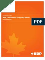 NDP Constitution (Nov 2011)