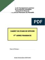 carnet de stage 6iém