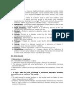 Dietary Deficiency Diseases