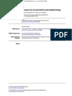 Glossary for Eco No Metrics and Epidemiology