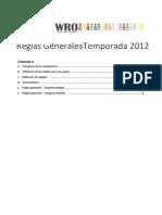 Reglas Generales 2012