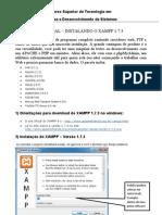 TUTORIAL – INSTALANDO O XAMPP 1.7.3