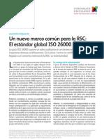 Un nuevo marco común para la RSC-  El estándar global #iso26000-