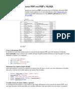 Generar PDF Con PHP y MySQL