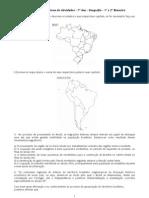 Caderno de exercícios - Geografia