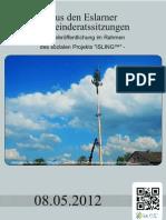 Aus den Eslarner Gemeinderatssitzungen - 08.05.2012