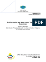 Anti-Corruption and Governance: The Philippine Experience