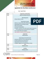 CSR Asia Summit 2012 Draft Program