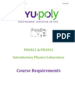 PH2031 Course Requirements