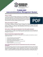 TL 9000 Telecommunications