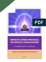 exercício diário individual de apelos e visualizações