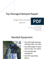Top Managed Belayed Rappel