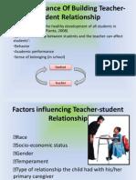 Student Teacher Relationship
