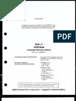 Fortran IV Iasrsx v25 Pdp11 Fortran Lang Ref Manual