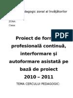 Structura Proiect Cerc Pedagogic