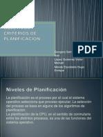 NIVELES, OBJETIVOS Y CRITERIOS DE PLANIFICACIÓN