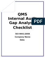 38541869 Qms Gap Analysis Checklist Final