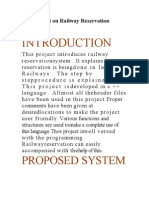 C++ Project on Railway Reservation System