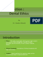 (1) Introduction to Dental Ethics