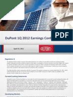 DuPont 1Q12 Slides FINAL