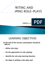 Writing and Developing Role-plays