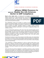 PQE Strengthens MENA Presence to Better Enable the Life Sciences Sector in GXP Compliance