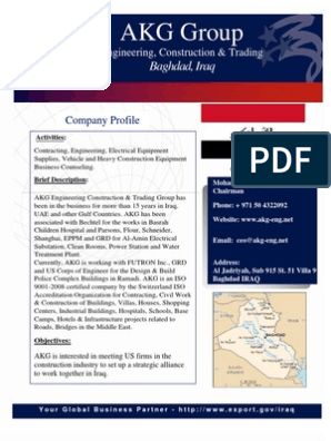 Iraqi Companies at WOC 2011 | General Contractor | Iraq