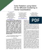 Paper3[1]Error Vector Rotation Using Kekre Transform for Efficient Clustering in Vector Quantization