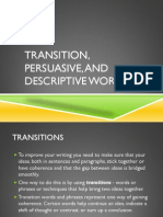 Essay-Transition Persuasive and Descriptive Words