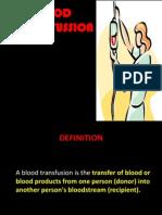 Blood Transfsn