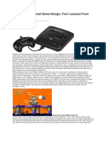 Game Design Lessons From Sega Genesis