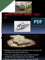 Railway Budget 2012-13 Ppt