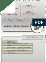 Modified Release Capsules