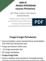 Bab 9 Tata Niaga Pertanian Pemasaran Pertanian