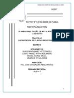 Practica No.1 PLANEACION Y DISEÃ'O DE INSTALACIONES