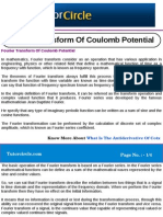 Fourier Transform of Coulomb Potential