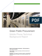EC DGE - GPP Mobile Phone Technical Background Report 2010