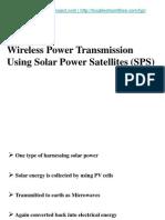 Wireless Power Transmission Solar+PowerSatellites Www.final Yearproject.com