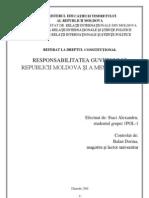Responsabilitatea Guvernului Republicii Moldova Si a Membrilor Lui